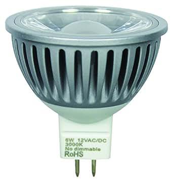 NT Light Lampe LED MR16Spot, COB, 6W, remplace 40W (40–50W), culot GU5.3, blanc chaud 3000K, 400lm, 38° 103037