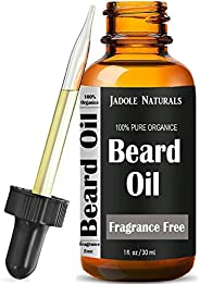 Jadole Naturals Organic Beard Oil And Leave-In Conditioner Softener, Fragrance Free