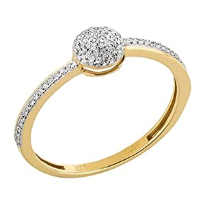 Ardeo Aurum Damenring 375 Gold 0,09 ct Diamant