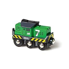 Brio 33214 – Locomotiva per Treno Merci a Batterie, BRIO Treni-Vagoni-Veicoli, Età Raccomanda