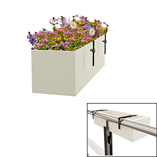 Yuccabe Italia Railing Hanging Box Tray Planter  available at amazon for Rs.2250