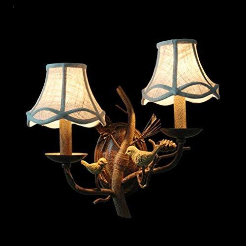 BD Home Beleuchtung Retro Birdie Wandleuchte, Beleuchtung, Kreative Dekoratives Restaurant Lounge Nachttischlampe Doppelschlafzimmer Eisenkopf Wandleuchte Zimmer Kind verzweigt Lichter Stilvolle Einf -