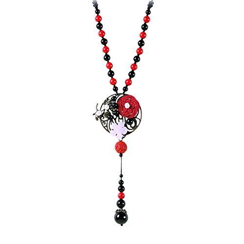 (Sunjing Lady Fashion Retro Pullover Chain National Wind Pullover Kette Einfache Pendel Ornamente)