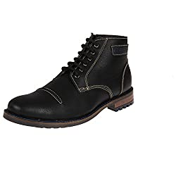 Duke Men Solid Boots Black coloured 7
