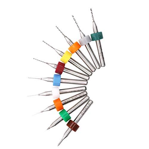F Fityle PCB Micro Spiralbohrer Metallbohrer 0.1-1mm Dick Griff Ersatz Bohrer