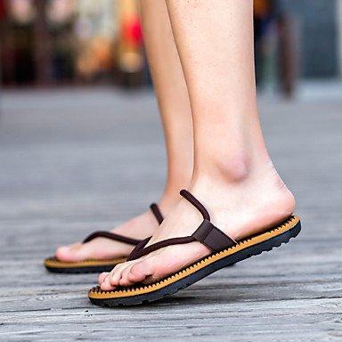 Sommer Sandalen Herrenschuhe legere Synthetische Flip-Flops Blau/Rot/Khaki Khaki