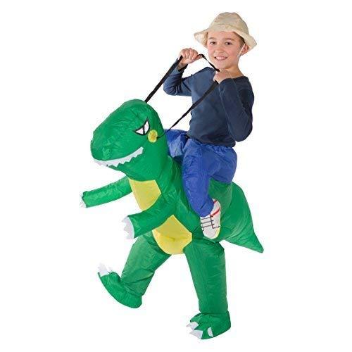 Bodysocks® Aufblasbares Dinosaurier Kostüm für Kinder (Die Grundschule Halloween-party-spiele Für)