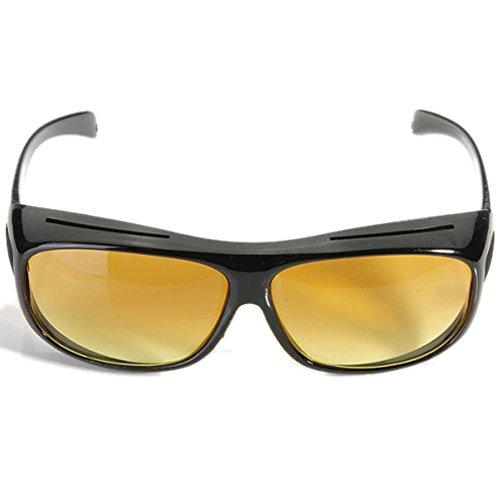 Dcolor Auto KFZ Brille Sonnenbrille Nachtfahrbrille Nachtsichtbrille Kontrastbrille ideal gegen blendendes Licht bei Nachtfahrten