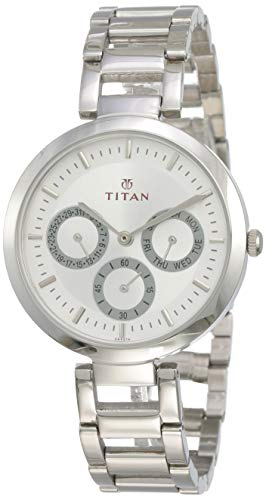1. Titan Youth Analog Silver Dial Watch