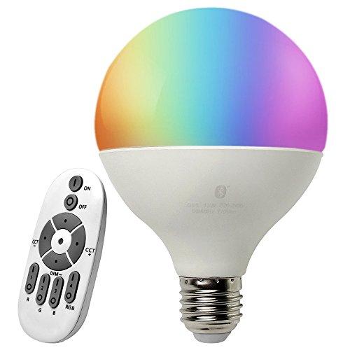 (iLintek Dekorative Lichter Intelligentes Spot Starter Set für White und Color Ambience Wireless Lighting, Smart 13W E27 LED Glühbirne Lampen,Dimmerschalter A1 mit 14 Tasten,Multicolor, Dimmbar)