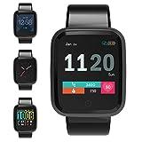 FOSUN N1 Smartwatch, Orologio Fitness Cardiofrequenzimetro da Polso Smart Watch Fitness Activity Tracker Pedometro Orologio Sport per Donna Uomo per Telefoni Android e iOS Grigio