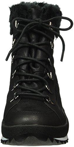 Caprice Damen 26200 Combat Boots Schwarz (BLACK COMB 019)