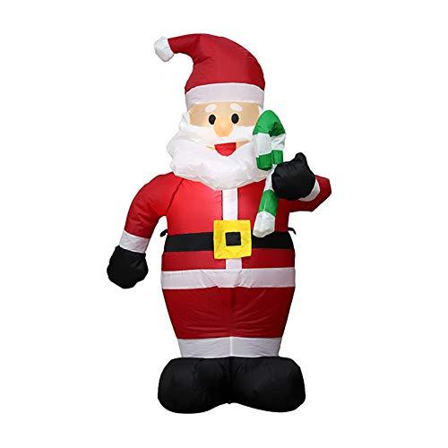 Eleganantimpresionante 1,2 m de Altura Navidad Hinchable Santa Claus con pequeña muleta...