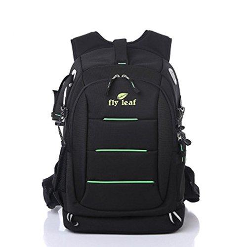 Waterproof Nylon Camera Backpack Outdoor Multifunctional Lightweight Anti-theft SLR Camera Rucksack for Laptops Tablets Canon Nikon Camera Accessories BLACK for Men/Women , Black (Kit Zubehör High Roller)