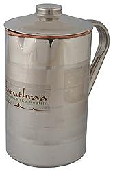 Aaruthraa Jug, 1-Piece, 1.5 Liters, Silver