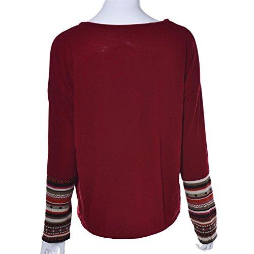 Bestop women swaetshirt Maglia a Manica Lunga - Donna Red 4