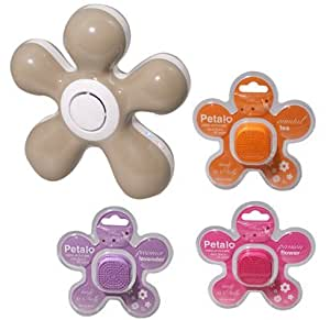 Petalo: Diffusore Aromi Fiore USB. Diffusore profumo ambiente automatico, Aromaterapia. Diffusore aromi colori vari. Novità: diffusore di profumo a cialda - Tortora +3 Cialde Profumazioni Assortite