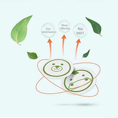 wutao cartone animato pianta olio essenziale 60 pezzi adesivi repellenti per zanzare bambino adulto efficace bracciale antizanzare protezione duratura per 8 ore per adesivo