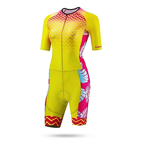 Candys house Outdoor Sports Damen Triathlon Anzug Sommer Outfit Skateranzug (Color : 01, Size : M)