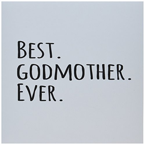 3dRose gc_151526_5 - Tarjeta de felicitación de 151526 x 15,2 cm, diseño con texto en inglés Best Godmother