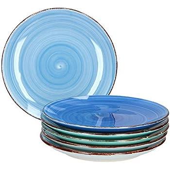 MamboCat 18tlg. Teller-Set Blue Baita | edles Steingut