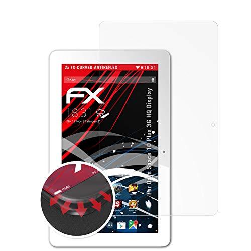 atFolix Schutzfolie passend für Odys Space 10 Plus 3G HQ Bildschirm Folie, entspiegelnde & Flexible FX Bildschirmschutzfolie (2X)