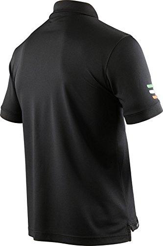 X-BIONIC for AUTOMOBILI LAMBORGHINI Herren Tech Style Pro Man Stripes Flag Ow Short Sleeves Polo Shirt Black