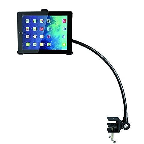 BESTEK iPad tablet Schwanenhals Halterung Notebook Ständer für Apple iPad 2/ 3/ 4/ mini 2/ mini 3/ Air/ Air 2,65cm Flexibler Arm,Carbonstahl,schwarz
