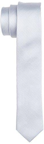 ESPRIT Collection Herren Krawatte 057EO2Q001 Grau (Silver 090), One size (Herstellergröße: 1SIZE)