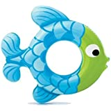 Inflatable Swim Ring Fish Shape - Blow Up Floating Tube Raft Tube for Swimming Pool Beach for Age 3 to 6 Years - 77 x 76cm (Colors May Vary)