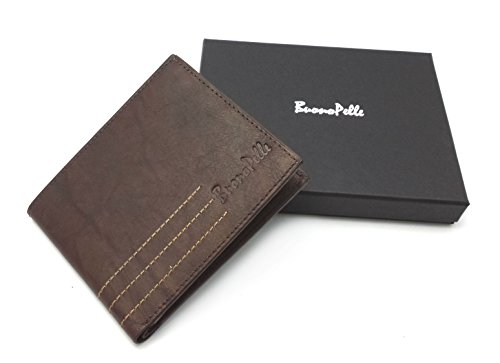 disenador-buono-pelle-real-distressed-cuero-mens-cartera-credit-carder-titular-bifold-purse-con-caja