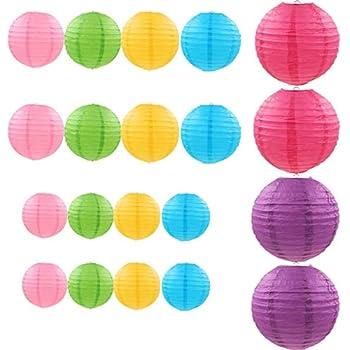 10x Papierlaterne Papierlampion Lampe Laterne Reispapier  Deko Mehrfarben aus DE