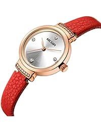 0090c9a4a8db SW Watches MEGIR Relojes Mujer De Cuarzo Reloj de Moda para Mujer Pequeño  Reloj de Pulsera