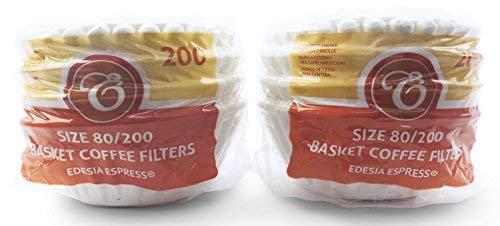 400 Stück 80/200mm Korbfilter Kaffeefilter - kompatibel mit Beem, Cuisinart, Phillips, Gastroback usw.