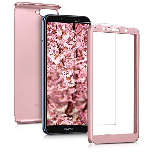 kwmobile Huawei Y6 (2018) Hülle - komplette Abdeckung - inkl. Display Schutzglas - Case für Huawei Y6 (2018)