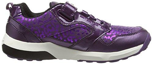 Geox J Asteroid Girl A, Baskets Basses Fille Violet - Violett (C8000PURPLE)