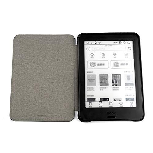 Aibecy 6in Paperwhite Lederhülle Leichte schützende magnetische Smart Cases mit Auto Sleep/Wake Funktion für Onyx BOOX POKE & POKE Pro Android Tablets