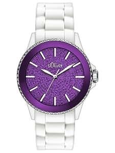 s.Oliver Damen-Armbanduhr Analog Quarz Silikon SO-2672-PQ