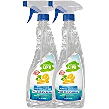 Natural Life Fda Approved Disinfectant Surface Sanitizer, Citrus 500 Ml (Pack 2)
