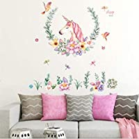 Unicorn Wall Decals Girls Bedroom Wall Stickers Nursery Room Wall Stickers-FER002660