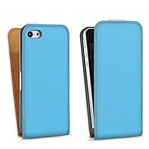 Apple iPhone 4 Housse Étui Silicone Coque Protection Bleu azur Bleu Bleu Sac Downflip blanc