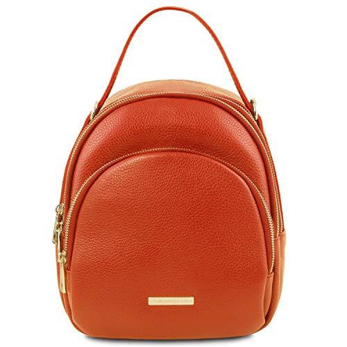 Tuscany Leather TLBag Damenrucksack aus Leder Brandy -