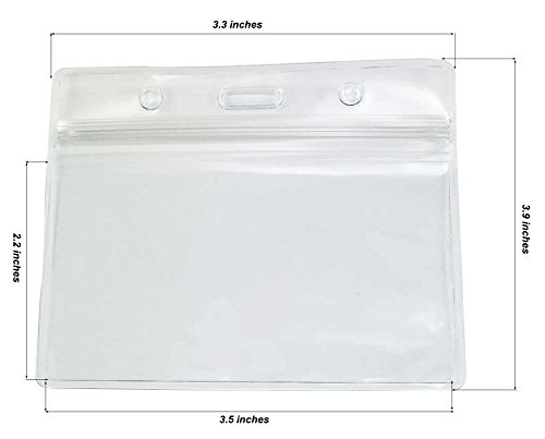 Ujoy 100 Stück durchsichtigen Kunststoff-Horizontal-Namensschild -Abzeichen ID-Kartenhalter