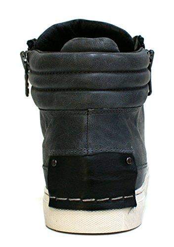 Crime London 11141A16B - Chaussures Baskets Homme à lacets Gris
