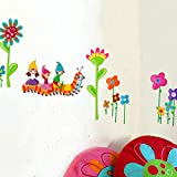 Pegatinas de pared Oruga pegatinas de pared de dibujos animados salón dormitorio TV sofá pegatina de pared