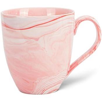 hausmann s hne xxl tasse wei gro aus porzellan in rosa marmorierung jumbotasse 500 ml 550. Black Bedroom Furniture Sets. Home Design Ideas