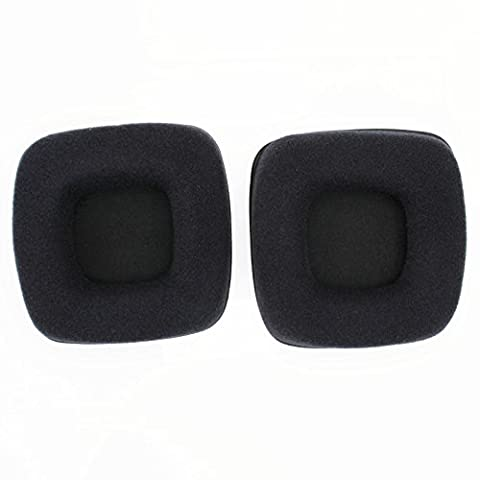 WARRAH Mudder 2 Pcs Foam Ear Pad, Elastic Sponge and PU Leather Ear Cushion Pads, Replacement Earpads Ear Pads Cushions for Razer Banshee JZF-121