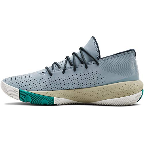 Under Armour Sc 3zer0 Iii, Herren Basketball, Blau (Harbour Blue/Khaki Base/Wire (402) 402), 48.5 EU