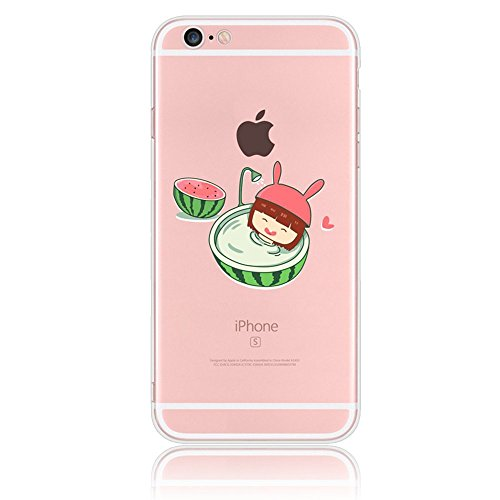 Coque iPhone 7 (4.7 pouces) - Sunroyal® TPU Coque Silicone Transparente Case pour Apple iPhone 7 2016 Protection Shock-Absorption Bumper et Anti-Scratch Back Cover Ultra Mince Premium Doux Gel Shell,  Pattern 18