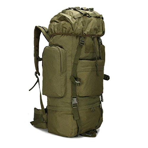 LF&F Outdoor 65-75L große Kapazität Bergsteigen Tasche Camping Camping-Tasche Wandertasche wasserdichte Abdeckung Tarn-Umhängetasche militärischer Rucksack taktischer Rucksack Träne D